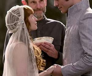 couple, wedding, and finnick odair image