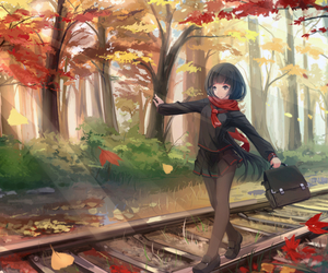 anime and autumn image