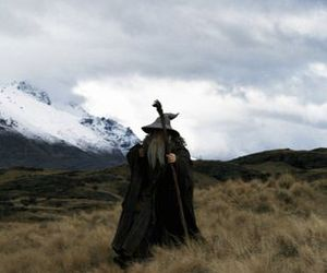 gandalf, lord of the rings, and mountains image
