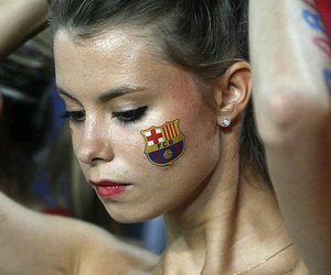 Barca, Barcelona, and girl image
