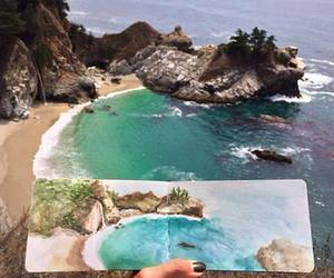 art, beach, and drawing image
