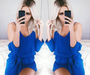 blue, fashion, and jumpsuit image