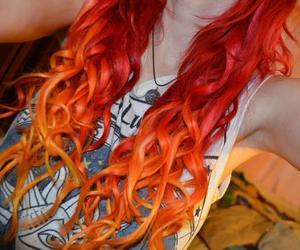 hair, orange, and girl image