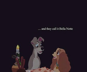 disney, lady and the tramp, and love image