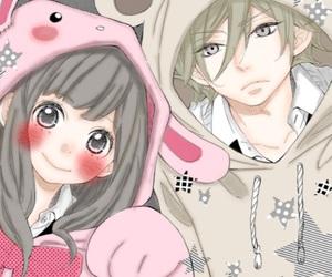 恋愛、うさぎ、ハリネズミ、文化祭、高校生, 恋するハリネズミ、恋愛、アニメ、anime, and 漫画、女の子、着ぐるみ、かわいい、ピンク image