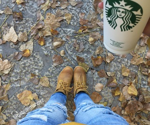 coffe, cold, and starbucks image