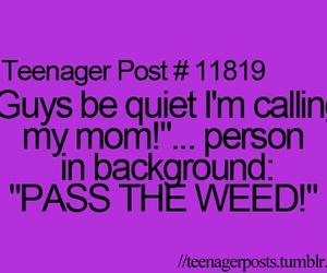 mom, weed, and funny image