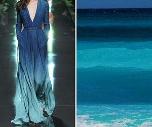 dress, blue, and sea image