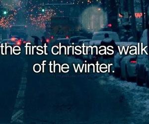 christmas, winter, and walk image