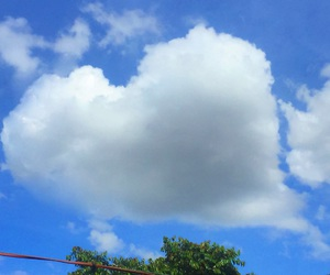 clouds, heart, and nature image