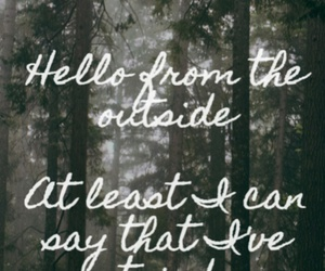 Adele, hello, and Lyrics image