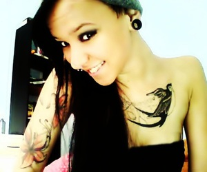 Chica, tattoo, and tunel image