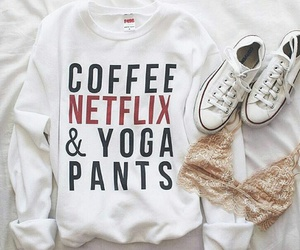 fashion, outfit, and netflix image
