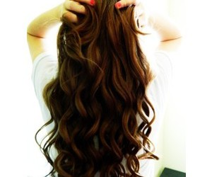 hair, long, and curls image