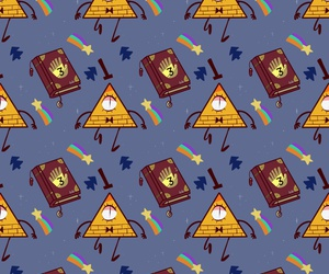 wallpaper, gravity falls, and bill cipher image
