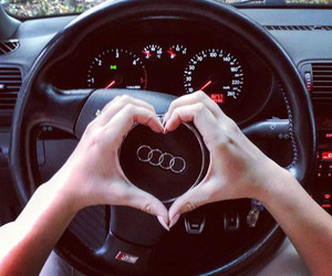 audi, car, and heart image