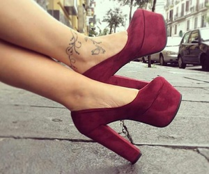 heels, tattoo, and OMG image