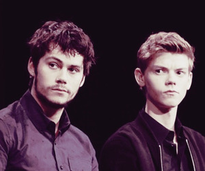 newt, dylan o'brien, and thomas image