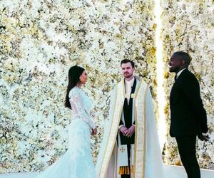 kanye west, kim kardashian, and wedding image