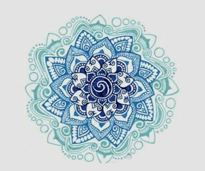 mandala and blue image