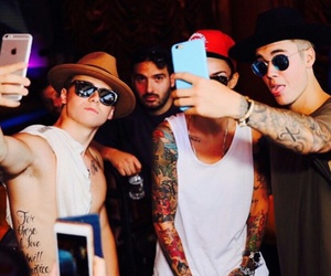 justin bieber, christian beadles, and tattoo image