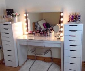makeup, room, and decor image