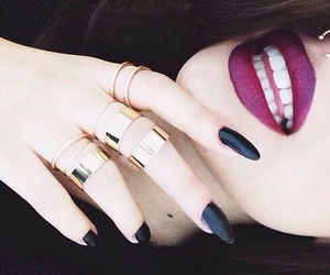 lipstick, nails, and tumblr image