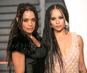family, lisa bonet, and zoe kravitz image