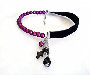 etsy, gothic jewelry, and pearl choker image