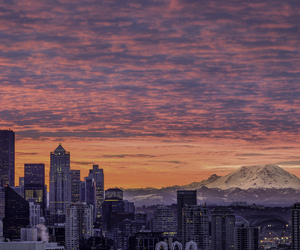 seattle, city, and sky image