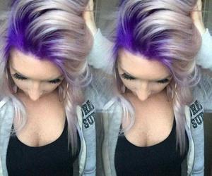purple and hair image