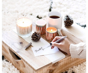 winter, christmas, and candles image