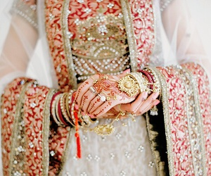 dress, henna, and jewelry image