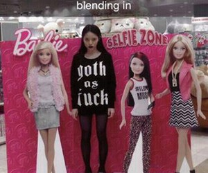 barbie, black, and goth image