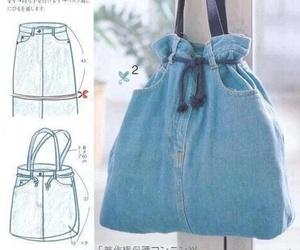 diy, jeans, and bag image