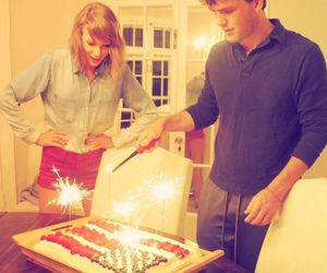 Taylor Swift, austin swift, and cake image