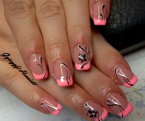 color, flower, and nails image