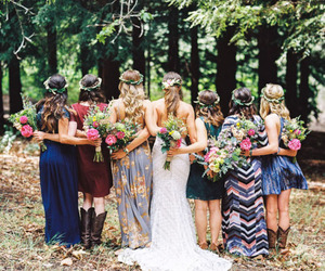 best friends, bridesmaid, and love image