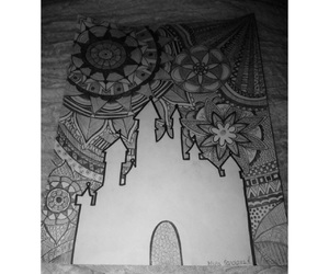 art, blackandwhite, and mandala image