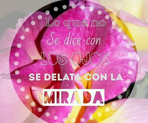 flower, frases, and ojos image