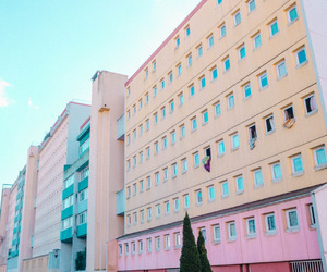 pink, building, and grunge image