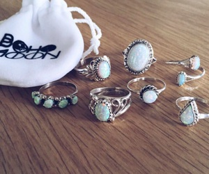 bohemian, moonstone, and sterling silver image