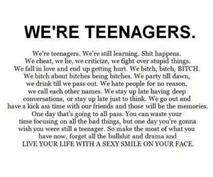 teenager, teen, and quote image