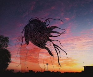 outline and sunset image