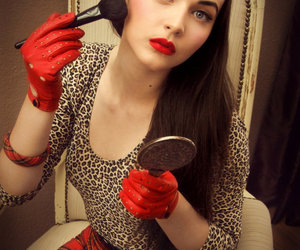 Pin Up, red, and 50s image
