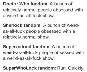 doctor who, sherlock, and superatural image