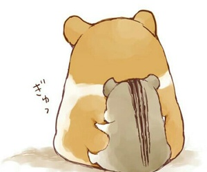 fluffy, hamster, and hug image