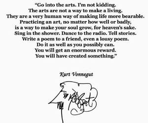 quotes, kurt vonnegut, and art image