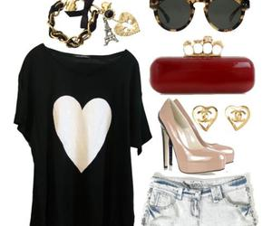 clothes, sunglasses, and heart image