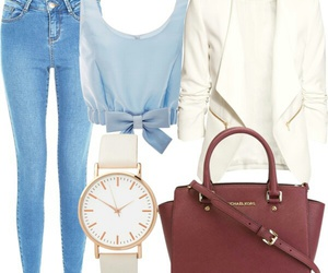 blue, clock, and Polyvore image